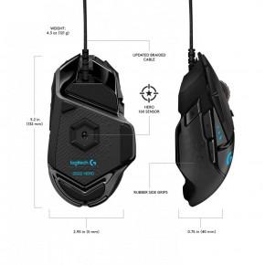 Мышь Logitech G502 HERO Gaming Mouse Black USB (910-005470)