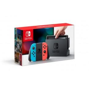 Игровая приставка Nintendo Switch (красный/синий) + игра The Legend of Zelda: Breath of the Wild